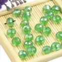 Beads, Selenial Crystal, Crystal, Green AB, Faceted Discs, 8mm x 6mm, 10 Beads, [ZZC105]
